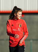 20200911 - TUBIZE , Belgium : Maire Minnaert pictured during the training session of the Belgian Women's National Team, Red Flames ahead of the Women's Euro Qualifier match against Switzerland, on the 28th of November 2020 at Proximus Basecamp. PHOTO: SEVIL OKTEM | SPORTPIX.BE