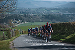The peloton led by Ineos Grenadiers climb La Redoute during the 107th edition of Liege-Bastogne-Liege 2021, running 259.1km from Liege to Liege, Belgium. 25th April 2021.  <br /> Picture: A.S.O./Aurelien Vialatte | Cyclefile<br /> <br /> All photos usage must carry mandatory copyright credit (© Cyclefile | A.S.O./Aurelien Vialatte)