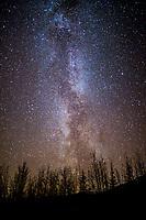 Milky way on a dark night, Wiseman, Alaska.