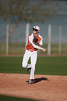 Turner Symonds (15) of Fort Worth Country Day School in Fort Worth, Texas during the Baseball Factory All-America Pre-Season Tournament, powered by Under Armour, on January 13, 2018 at Sloan Park Complex in Mesa, Arizona.  (Mike Janes/Four Seam Images)