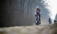 Paris-Roubaix 2013 RECON at Bois de Wallers-Arenberg..Lars Bak (DNK)
