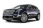 Stock pictures of low aggressive front three quarter view of 2018 Cadillac XT5 AWD-Platinum 5 Door SUV Low Aggressive