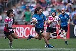 Italy vs Japan during the Women's Sevens Cup second Semi-final as part of the HSBC Hong Kong Rugby Sevens 2017 on 07 April 2017 in Hong Kong Stadium, Hong Kong, China. Photo by Marcio Rodrigo Machado / Power Sport Images