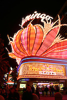 Neon sign of the Flamingo Hotel & Casino at night, Las Vegas, Clark County, N