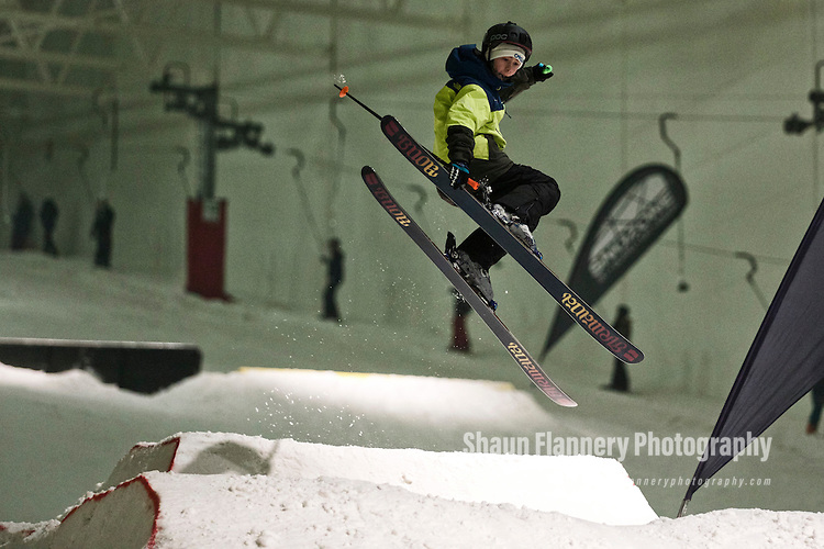 Pix: Shaun Flannery/shaunflanneryphotography.com<br /> <br /> COPYRIGHT PICTURE>>SHAUN FLANNERY>01302-570814>>07778315553>><br /> <br /> 6th February 2015<br /> Snozone Castleford<br /> Sochi Freestyle Competition<br /> Mason Flannery