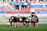 18th March 2021;  Ulster gather together during Ulster Rugby Captain's Run held at Kingspan Stadium, Ravenhill Park, Belfast, Northern Ireland. Photo by John Dickson/Dicksondigital