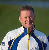 23.09.2014. Gleneagles, Auchterarder, Perthshire, Scotland.  The Ryder Cup.  Jamie Donaldson (EUR) during the team photo call.
