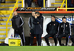 Aberdeen v St Johnstone…..05.02.20   Pittodrie   SPFL<br />Derek McInnes can't watch<br />Picture by Graeme Hart.<br />Copyright Perthshire Picture Agency<br />Tel: 01738 623350  Mobile: 07990 594431