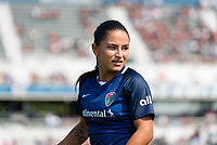 CARY, NC - SEPTEMBER 12: Debinha #10 of the NC Courage looks back during a game between Portland Thorns FC and North Carolina Courage at Sahlen's Stadium at WakeMed Soccer Park on September 12, 2021 in Cary, North Carolina.