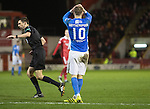 Aberdeen v St Johnstone…10.12.16     Pittodrie    SPFL<br />David Wotherspoon reacts after dragging his late shot wide<br />Picture by Graeme Hart.<br />Copyright Perthshire Picture Agency<br />Tel: 01738 623350  Mobile: 07990 594431