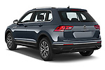 Car pictures of rear three quarter view of 2021 Volkswagen Tiguan Elegance 5 Door SUV Angular Rear