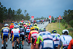 The peloton in action during Stage 2 of the 2018 Artic Race of Norway, running 195km from Tana to Kjøllefjord, Norway. 17th August 2018. <br /> <br /> Picture: ASO/Rune Dahl | Cyclefile<br /> All photos usage must carry mandatory copyright credit (© Cyclefile | ASO/Rune Dahl)