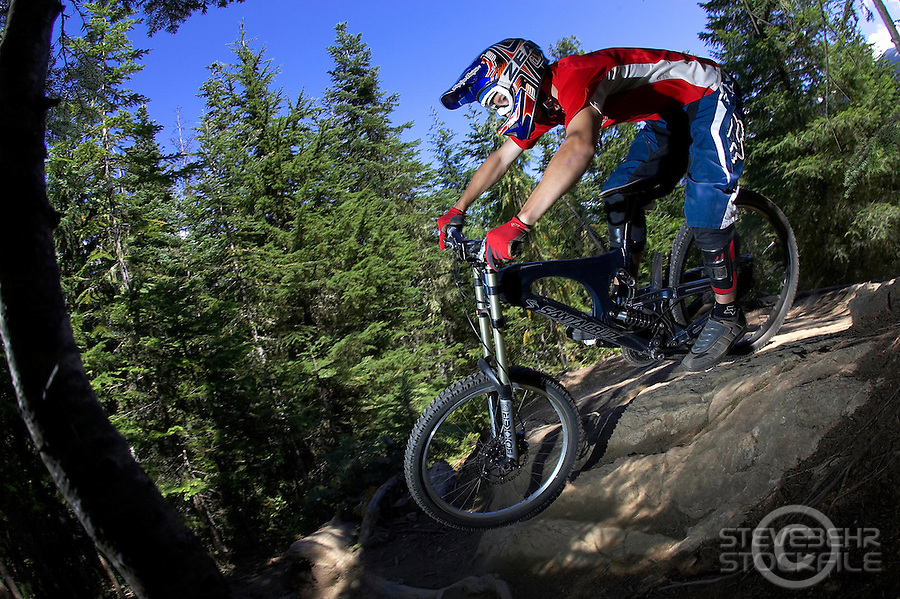 Arran Gannicott..Whistler , BC , Canada ..July 2007..pic copyright Steve Behr / Stockfile
