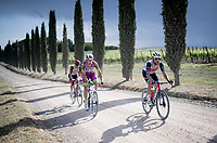 """Jacopo Mosca (ITA/Trek - Segafredo) over the final gravel sector of the day.<br /> <br /> 104th Giro d'Italia 2021 (2.UWT)<br /> Stage 11 from Perugia to Montalcino (162km)<br /> """"the Strade Bianche stage""""<br /> <br /> ©kramon"""