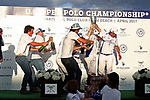 WELLINGTON, FL - APRIL 25:  Team Valiente celebrates with champagne after winning the US Open Polo Championship Final, at the International Polo Club Palm Beach, on April 25, 2017 in Wellington, Florida. (Photo by Liz Lamont/Eclipse Sportswire/Getty Images)
