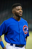 AZL Cubs shortstop Delvin Zinn (21) during the game against the AZL Mariners on August 4, 2017 at Sloan Park in Mesa, Arizona. AZL Cubs defeated the AZL Mariners 5-3. (Zachary Lucy/Four Seam Images)