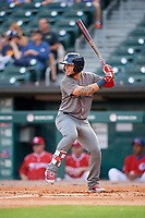 Lehigh Valley IronPigs left fielder Danny Ortiz (6) at bat during a game against the Buffalo Bisons on June 23, 2018 at Coca-Cola Field in Buffalo, New York.  Lehigh Valley defeated Buffalo 4-1.  (Mike Janes/Four Seam Images)