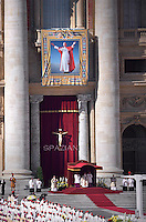 Pope Francis during mass for the beatification of Paul VI, at St Peter's square on October at the Vatican. 19, 2014