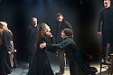 The Crucible by Arthur Miller, directed by Yael Farber. With Michael Thomas as Reverend Parris, Samantha Colley as Abigail Williams, Richard Armitage as John Proctor , Jack Ellis as Deputy Governor Danforth, Opens at The Old Vic Theatre  on 3/7/14  pic Geraint Lewis