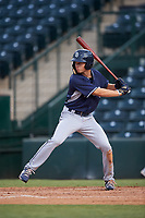 Hudson Head, of the AZL Padres 1, at bat during an Arizona League game against the AZL Angels on August 5, 2019 at Tempe Diablo Stadium in Tempe, Arizona. AZL Padres 1 defeated the AZL Angels 5-0. (Zachary Lucy/Four Seam Images)