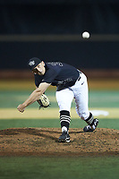 Wake Forest Demon Deacons relief pitcher Bobby Hearn (34) delivers a pitch to the plate against the Virginia Cavaliers at David F. Couch Ballpark on May 18, 2018 in  Winston-Salem, North Carolina.  The Cavaliers defeated the Demon Deacons 15-3.  (Brian Westerholt/Four Seam Images)