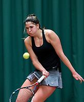 Wateringen, The Netherlands, March 16, 2018,  De Rhijenhof , NOJK 14/18 years, Nat. Junior Tennis Champ.  Kim Hansen (NED)<br />  Photo: www.tennisimages.com/Henk Koster