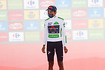 Egan Bernal (COL) Ineos Grenadiers retains the young riders White Jersey at the end of Stage 14 of La Vuelta d'Espana 2021, running 165.7km from Don Benito to Pico Villuercas, Spain. 28th August 2021.     <br /> Picture: Luis Angel Gomez/Photogomezsport   Cyclefile<br /> <br /> All photos usage must carry mandatory copyright credit (© Cyclefile   Luis Angel Gomez/Photogomezsport)