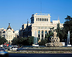 Spanien, Kastilien, Madrid: Plaza de la Cibeles und Calle de Alcala | Spain, Castile, Madrid: Plaza de la Cibeles and Calle de Alcala