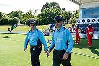 Umpires in action between Lindisfarne College and Rosmini College during the Gillette Cup Finals, Hagley Park, Christchurch, New Zealand. 5th December 2019. Photo: John Davidson, www.bwmedia.co.nz