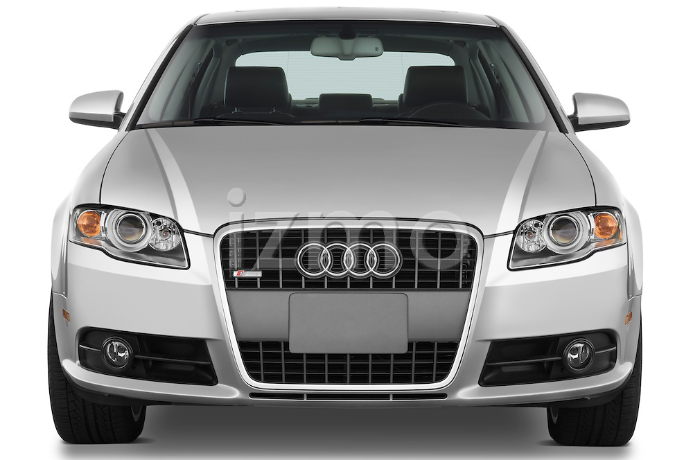 Straight front view of a 2005 - 2008 Audi A4 3.2 Sedan.