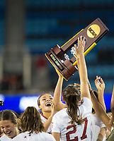 Stanford, CA - December 8, 2019: Sophia Smith, Bianca Caetano-Ferrara, Kattalin Stahl at Avaya Stadium. The Stanford Cardinal won their 3rd National Championship, defeating the UNC Tar Heels 5-4 in PKs after the teams drew at 0-0.