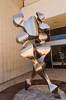 """The statue """"Ella"""", the work of artist Steve Bartlett, stands at the entrance to Neiman Marcus at the Stanford Shopping Center in Palo Alto, California."""