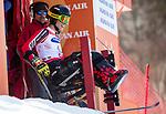Alex Cairns, PyeongChang 2018 - Para Alpine Skiing // Ski para-alpin.<br /> Alex Cairns at the start of the giant slalom // Alex Cairns au départ du slalom géant. 14/03/2018.
