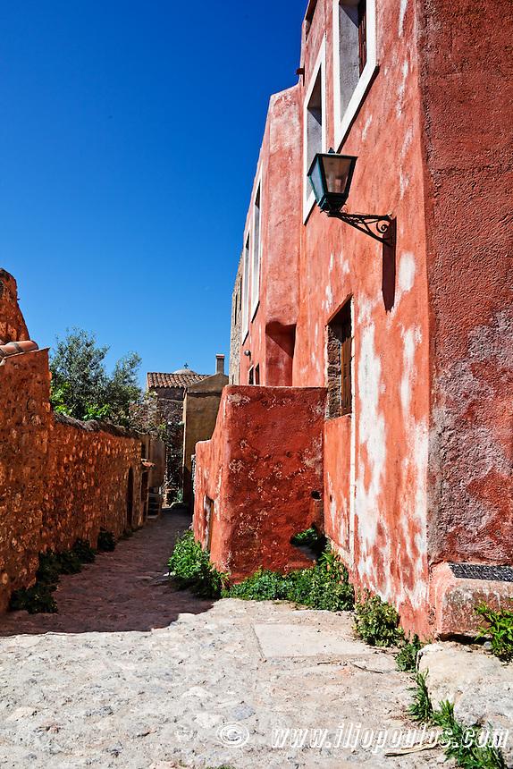 The Byzantine castle-town of Monemvasia in Greece