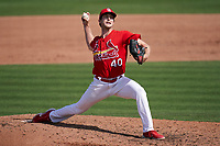 St. Louis Cardinals pitcher Jake Woodford (40) during a Major League Spring Training game against the Houston Astros on March 20, 2021 at Roger Dean Stadium in Jupiter, Florida.  (Mike Janes/Four Seam Images)