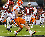 Clemson wide receiver Hunter Renfrow catches a 24 yard touchdown pass against Alabama in the second half of the 2017 College Football Playoff National Championship in Tampa, Florida on January 9, 2017.  Clemson defeated Alabama 35-31. Photo by Mark Wallheiser/UPI