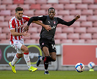 31st October 2020; Bet365 Stadium, Stoke, Staffordshire, England; English Football League Championship Football, Stoke City versus Rotherham United; Mickel Miller of Rotherham United looks to cross the ball