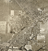 historical aerial photograph Roseville, Sarcamento county, California, 1947