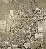 historical aerial photograph Roseville, Sarcamento county, California, 1947
