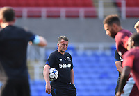 21st July 2021; Madejski Stadium, Reading, Berkshire, England; Pre Season Friendly Football, Reading versus West Ham United; David Moyse Manager of West Ham watches his team warm up
