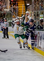 9 February 2019: University of New Hampshire Wildcat Forward Angus Crookshank, a Freshman from North Vancouver, British Columbia, in first period action against the University of Vermont Catamounts at Gutterson Fieldhouse in Burlington, Vermont. The Wildcats fell to the Catamounts 4-1 splitting their 2-game Hockey East weekend series. Mandatory Credit: Ed Wolfstein Photo *** RAW (NEF) Image File Available ***