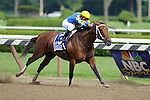 Javier Castellano aboard Hilda's Passion Winner of the Ballerina  Stakes (Grade I) apart of the Breeders Cup  Classic Win and You're In  at  Saratoga Race Course in Saratoga Springs, NY  on 8/27/11. Trained by Todd Pletcher(Ryan Lasek / Eclipse Sportwire)