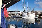 Longline fishing boat Alaska, Port of Port Townsend, Commercial Basin, fishing boats, Puget Sound, Jefferson County, Washington State, Pacific Northwest, salmon fishing boats,