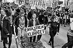 Brussels, Belgium Thursday, 21FEB19 .- Manifestación de estudiantes contra el cambio climático en el que participó la lider medioambiental Greta Thunberg. 2019 © Delmi Álvarez
