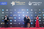 Mark O'Meara and his wife walk the Red Carpet event at the World Celebrity Pro-Am 2016 Mission Hills China Golf Tournament on 20 October 2016, in Haikou, China. Photo by Marcio Machado / Power Sport Images