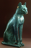 World Civilization:  The Gayer-Anderson Cat, a bronze cat from Egypt. Roman period after 30 B.C.  Lee Boltin, copyright 1986.