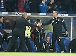 John Hughes shakes the hand of Ally McCoist at full-time