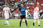 FC Internazionale Forward Eder Citadin Martins (C) reacts during the International Champions Cup match between FC Bayern and FC Internazionale at National Stadium on July 27, 2017 in Singapore. Photo by Marcio Rodrigo Machado / Power Sport Images