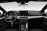 Stock photo of straight dashboard view of 2021 Audi A5-Coupe S-Line 2 Door Coupe Dashboard