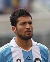 Argentina defender Ezequiel Garay (2). In an international friendly (Clash of Titans), Argentina defeated Brazil, 4-3, at MetLife Stadium on June 9, 2012.